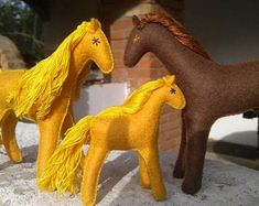 Natural toys wool felt animals role play Waldorf eco by Felthorses Felt Gifts, Travel Toys, Natural Toys, Role Play, Beautiful Gifts, Felt Animals, Beautiful Horses, Early Childhood, Hand Sewn