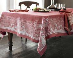 St. Nick Jacquard Tablecloth
