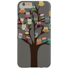 Cute Owl On Tree | Background Barely There iPhone 6 Plus Case