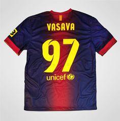 Nike FC Barcelona Custom Typeface 2013 by Vasava , via Behance