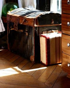 Vintage Suitcases Minus The Travel Hassle and Bustle