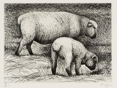 Henry Moore OM, CH 'Fat Lambs', 1974 © The Henry Moore Foundation. All Rights Reserved