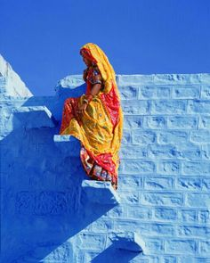 Colours of The Blue City, Jodhpur, India Jodhpur, We Are The World, People Around The World, Around The Worlds, Yoga Studio Design, Beautiful World, Beautiful People, Blue City, Rajasthan India