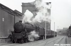 45313 At Princes Dock With A Train For Riverside Station April 1960 Liverpool Docks, Liverpool History, British Rail, Steam Engine, Locomotive, North West, Past, Prince, Train