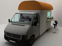 I really think this is a fantastic idea, and sometimes I wish I drove around in a big Starbucks van. Design by Daniel Milchtein. Please contact Daniel at d