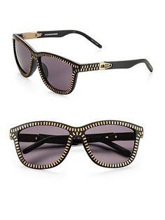 Alexander Wang by Linda Farrow  Zipper Motif Sunglasses