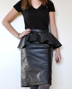 Add a peplum to your favorite skirt for a totally new look. | 41 Awesomely Easy No-Sew DIY Clothing Hacks
