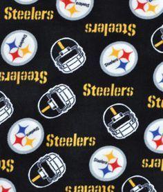 Pittsburgh+Steelers+NFL+Fleece+Fabric