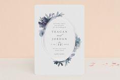 """Shimmer"" - Floral & Botanical, Elegant Foil-pressed Wedding Invitations in Mauve by Lori Wemple."