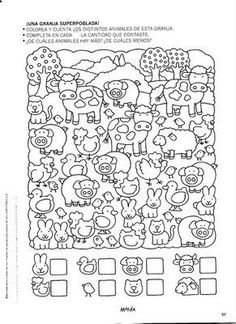 Album Archive - 456 numero mania del 1 al 30 Kindergarten Games, Preschool Writing, Preschool Learning Activities, Preschool Lessons, Kids Math Worksheets, Printable Activities For Kids, Easy Drawings For Kids, Hidden Pictures, Picture Puzzles