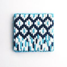 Fairisle inspired autumn/winter embroidered brooch by A Alicia