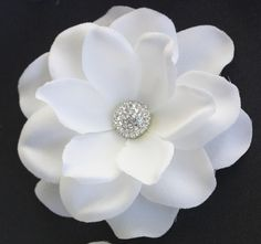 White Gardenia bridal Hair flower clip wedding by WearableArtz, $39.00