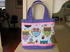 Cool idea for an Easter Basket:  Girl's Purple & Pink Owl Bag.  Purple by quiltbarnsandfolkart, $12.00