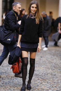 Models Off Duty El zapato plano: bailarinas