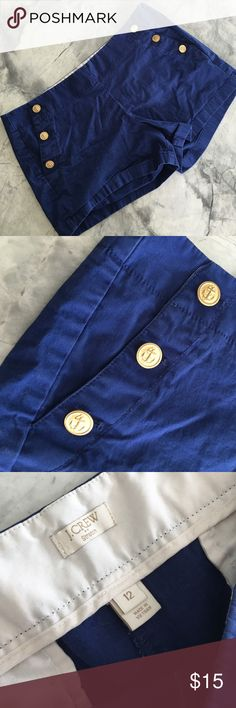 Nautical J.Crew Stretch Shorts Nautical J.Crew Stretch Shorts, side zipper, perfect condition and adorable anchor button front detail. J. Crew Shorts