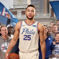 "The Philadelphia 76ers have introduced a brand new uniform the ""City Edition"" uniform. Ben Simmons is excited about wearing them. #Sixers #76ers #Philadelphia #NBA #basketball"