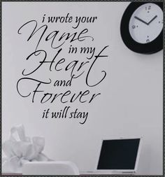 Vinyl Wall Lettering Words Quote Romantic Wrote by WallsThatTalk. $13.00 USD, via Etsy.