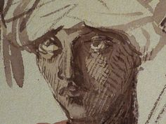 CHASSERIAU Théodore,1846 - Arabes - drawing - Détail 03