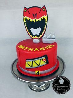 Power Rangers cake. #powerrangers #dinocharge #redranger #cake #birthday #wonderlandcakery