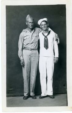sailor soldier buddies friends embrace hug arm in arm around shoulder - mike disfarmer 1940s WW2 military men gay interest ?