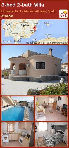 3-bed 2-bath Villa in Urbanizacion La Marina, Alicante, Spain ►€210,000 #PropertyForSaleInSpain