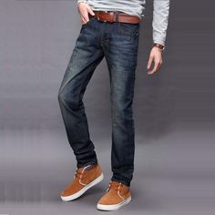 >> Click to Buy << Fashion new Cat whisker long Men jeans Self-cultivation middle waist Casual Comfortable cotton Straight pants J3004 #Affiliate