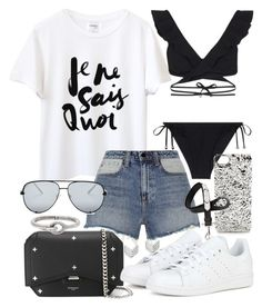 A fashion look from December 2016 featuring white tee, Alexander Wang and ruffle bikini. Browse and shop related looks. Summer Outfits Women, Trendy Outfits, Cool Outfits, Fashion Outfits, Fashion Drug, Daily Fashion, Everyday Fashion, Tween Trendy Clothes, Korean Fashion Kpop