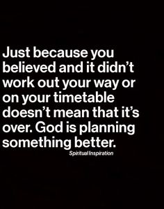 God's plans #faith