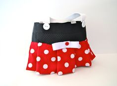Minnie Mouse Inspired Tote Bag on Etsy, $24.00