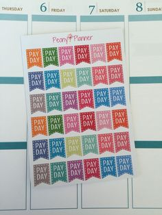 Payday Planner Stickers  Erin Condren Kikki K by PeonyPlanner
