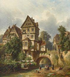 ars est celare artem — Christian Mali (German, Waschtag an der. Fantasy Town, Fantasy Castle, Fantasy House, Fantasy Map, Fantasy Places, Medieval Fantasy, Fantasy World, Fantasy Village, Fantasy Concept Art