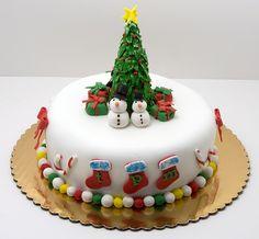 Resultado de imagen para fondant cake christmas