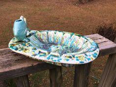 Vintage Turquoise Drip Glaze Ashtray--Amazing Fish Lighter Holder--Large Oval Ashtray--Signed Dated Ceramic Ashtray--MCM Atomic Retro by AlloftheAbove on Etsy