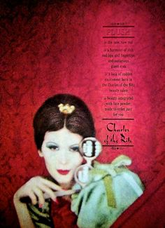 Charles of the Ritz 'Plush' Cosmetics Ad, 1959