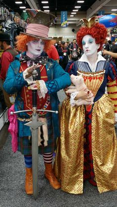 This is me and my best friend as Red Queen and Mad Hatter. San Diego Comic Con 2014. My first time ever doing cosplay!