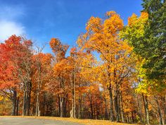 Fall colors at Pere Marquette State Park - largest state park in Illinois.