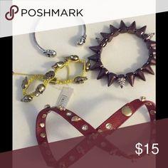 PUNK CHIC BUNDLE OF 4 RETRO BRACELETS NWOT PUNK CHIC BUNDLE OF 4 RETRO BRACELETS  NWOT Jewelry Bracelets