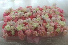 花のウェディングケーキ 浦安ブライトンホテル様へ : 一会 ウエディングの花