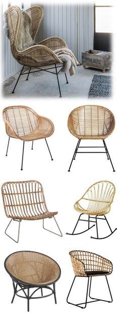 See a wonderful selection of indoor natural woven rattan armchairs including a rattan wing armchair, retro lounger, rocking chair and more Scandi style examples Bali Furniture, Furniture Outlet, Furniture Styles, Cheap Furniture, Furniture Design, Modern Furniture, Deco Furniture, Plywood Furniture, Chair Design