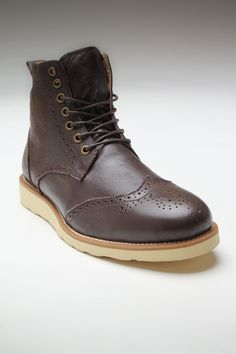 Leather boot.