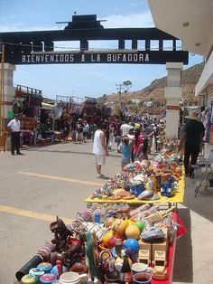 La Bufadora, Mexico the little shops along the way run by the locals selling handmade goods and other items