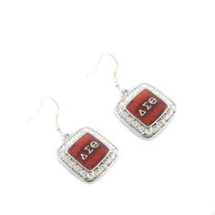 9696c07c1 Newest Square DST Earring Delta Sigma Theta Sorority earring 1pair free  shipping-in Drop Earrings from Jewelry & Accessories on Aliexpress.com |  Alibaba ...