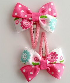 Hair clip Hair clip Hair clip Spring Birthday Etsy You are in the right place about hair clips how t Baby Hair Clips, Flower Hair Clips, Baby Hair Accessories, Computer Accessories, Pink Hair Bows, Hair Bow Tutorial, Bow Clip, Spring Hairstyles, Boutique Hair Bows
