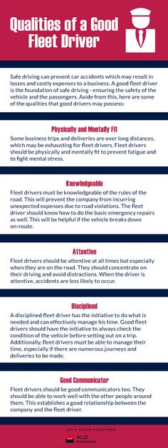 Qualities of a Good Fleet Driver