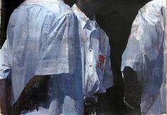 "François Bard, Conversation, 2014, Oil on Paper, 29½"" x 41¾"" #Art #BDG #BDGNY #Contemporary #Painting"