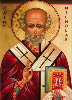 st nicholas miracle maker - I believe in miracles, I've seen them happen x Merry Christmas Images, Vintage Christmas Cards, Retro Christmas, Catholic Saints, Patron Saints, Catholic Religion, Catholic Art, Who Is St Nicholas, Saints For Kids