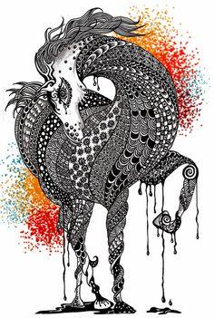 Horse - Maahy Art Print