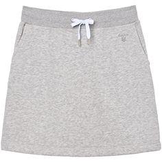 GANT - Joggeskjørt Light Grey Melange for women | Offisiell nettside