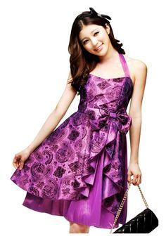 74b65ccd3e31 Party Semi Formal Prom Halterneck Girls Dress Sz 12 yrs Teens Purple XS S M  in Clothing