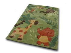 Bernadette Handtuft children carpet / game green carpet 120x180 cm: Amazon.de: Kitchen & Home